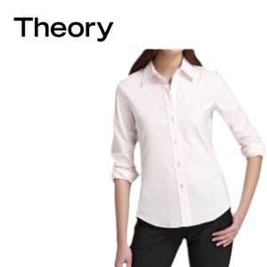Theory Larissa pale pink button down medium